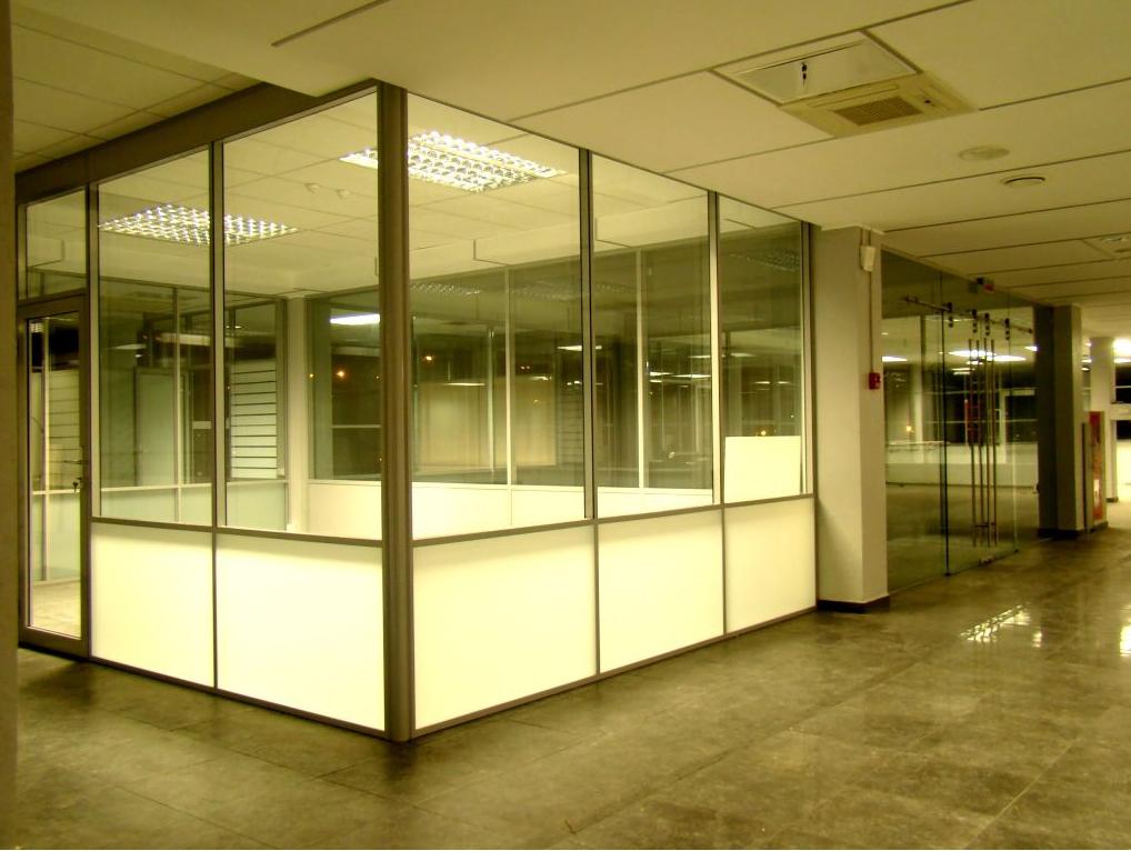 Офисная перегородка, стеклянная
